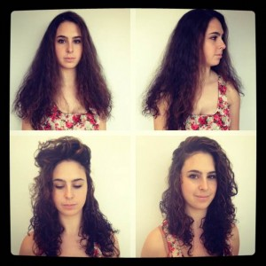 Nikki's Curly Hair Model (top-before & bottom-after)