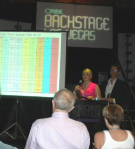 Joelle and Jack Ray presenting at the Owner's Forum (Oribe Backstage 2010)