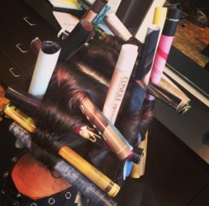Stylist traded in their curling irons for magazine pages during the creative curl workshop.