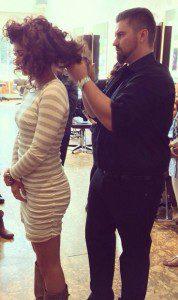Tony Caldwell styling senior stylist Nikki Galloni-Kepley