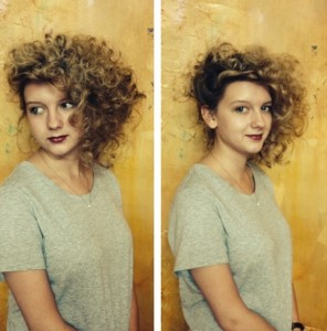 Stylist Erin Grogan's model