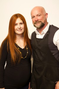Master stylist, Michael Knight with his model