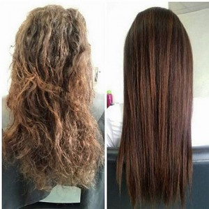 Before and after pictures from the Keratin Website